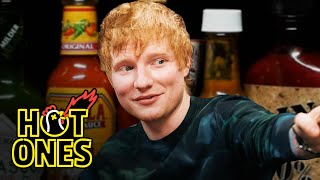 Ed Sheeran Tries to Avoid Failure While Eating Spicy Wings | Hot Ones