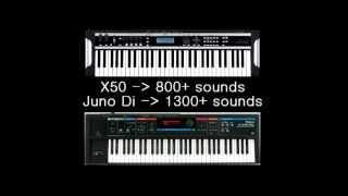 Roland JUNO Di vs Korg X50