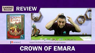Crown of Emara - A Gaming Rules! Review