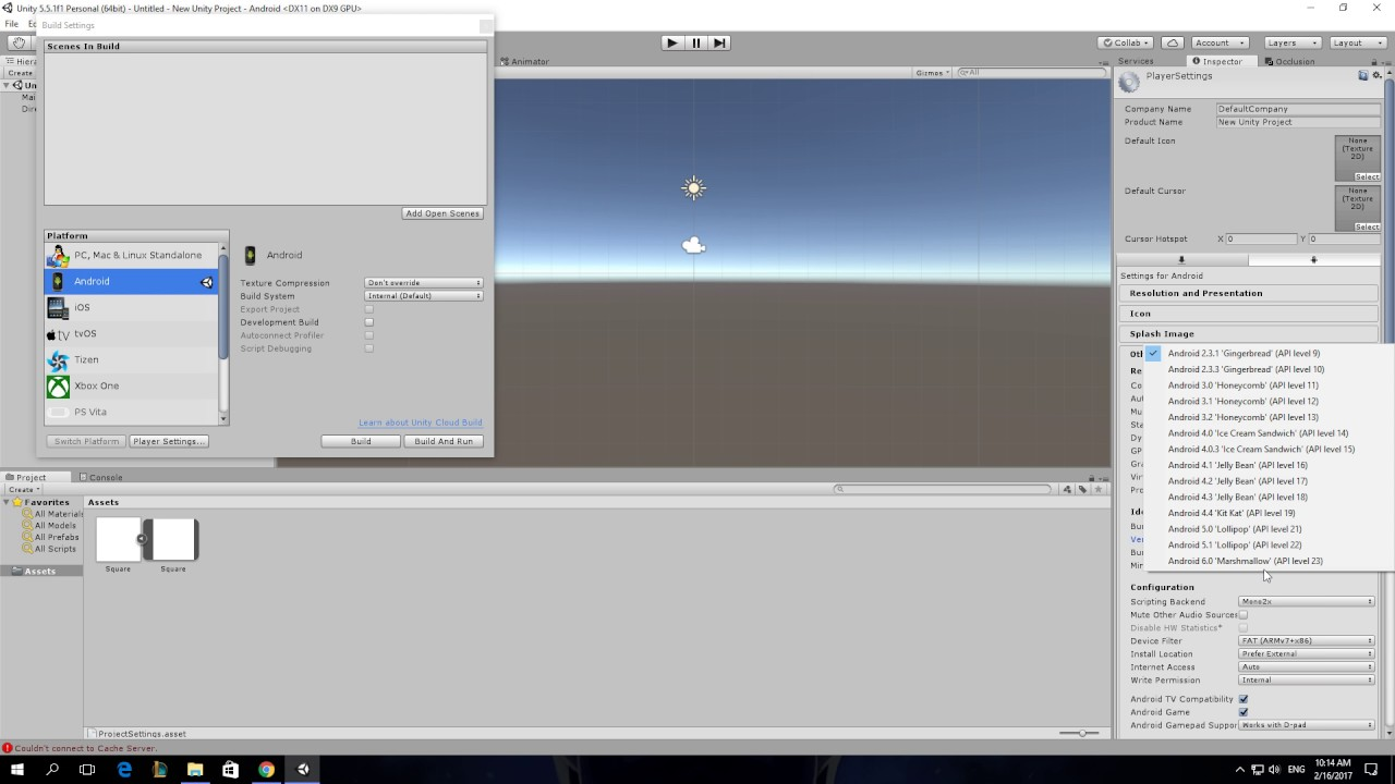 How To Change Minimum API Level Android In Unity 3D