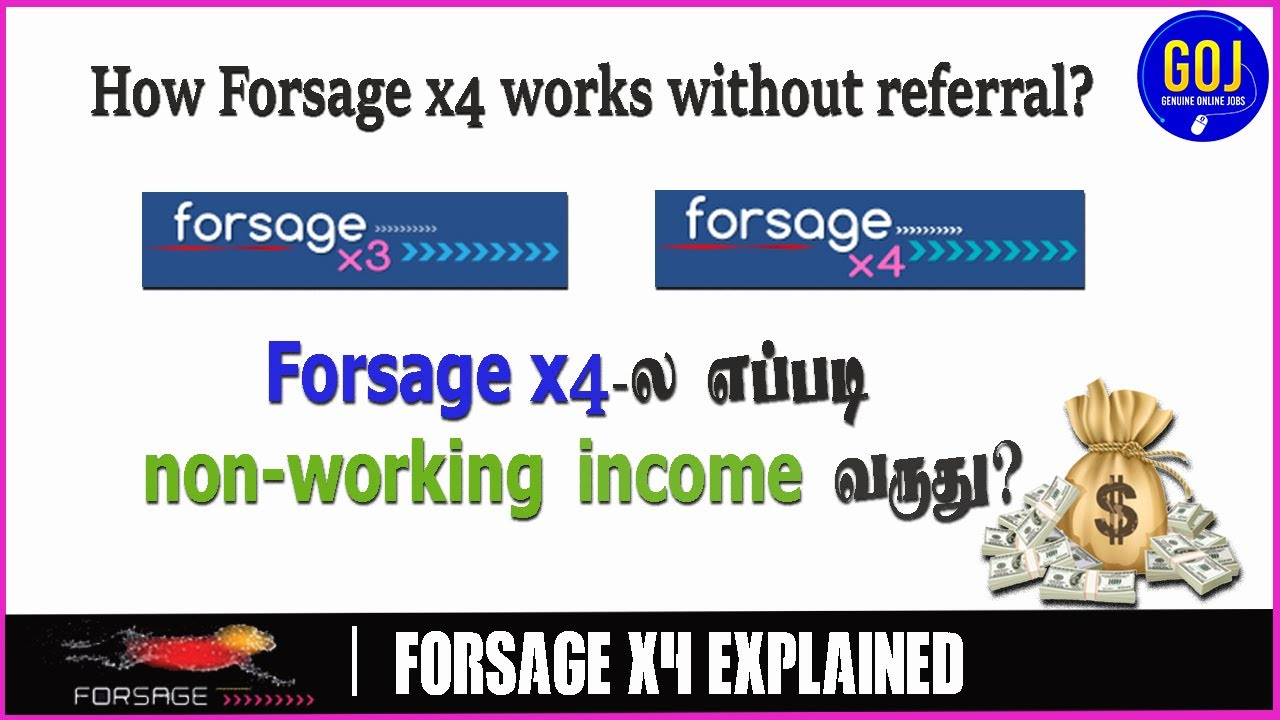 How x3 and x4 works in Forsage Tamil | non-working income from #forsagex4  #karthikeyansivaraj