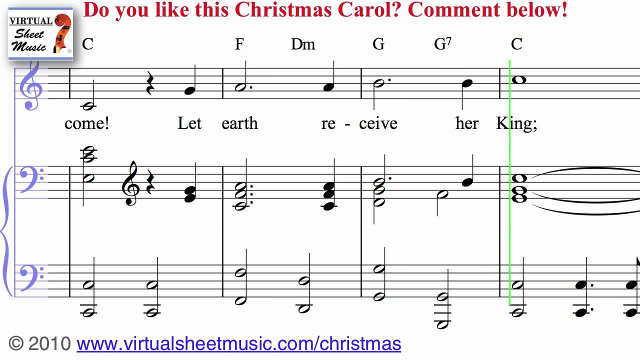 Joy to the World Sheet Music and Carol - Christmas Sheet Music Video ...