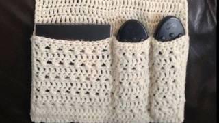 Модели вязания.Вязаный органайзер для дома. (crochet)