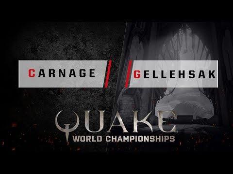 Quake - carnage vs. gellehsak [1v1] - Quake World Championships - Ro16 NA Qualifier #1