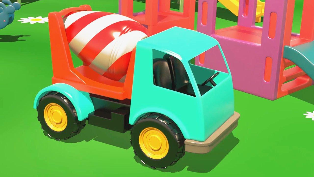 Cartoni animati per bambini al parcogiochi le grandi