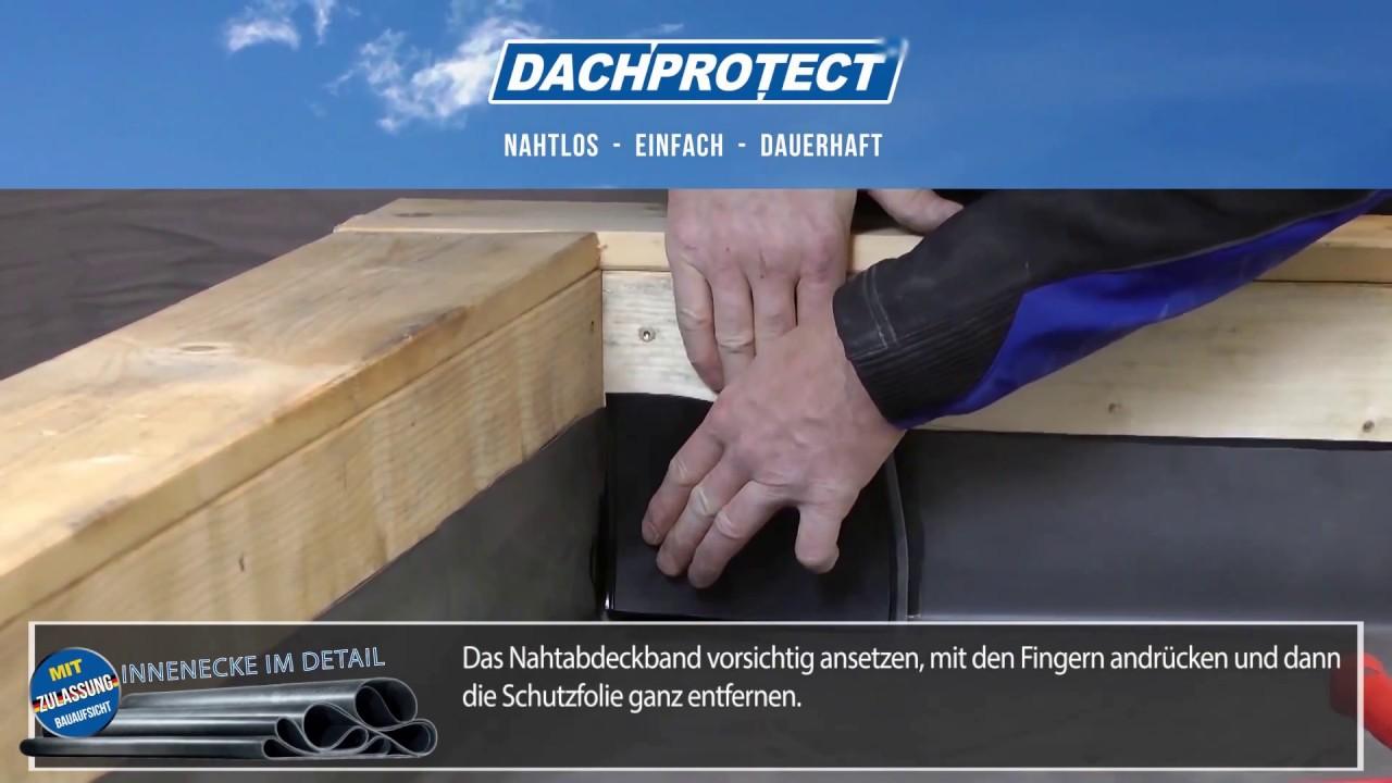 Dachprotect Es Epdm Innenecke Herstellen Youtube
