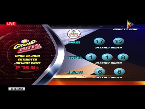 PCSO 9 PM Lotto Draw, April 17, 2018