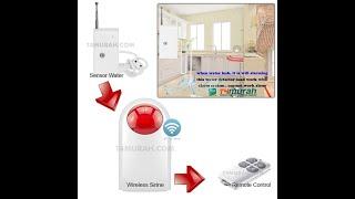 Wireless Sirens - Sirine 433Mhz - Sensor Tambahan GSM ALarm 433Mhz