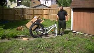Unboxing / Building my new Fat Bike!!! Motobecane Boris X5  - Timelaspe