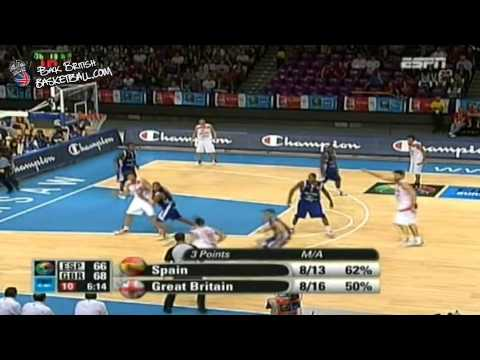 (Almost) Greatest Moment In GB Basketball History-GB vs Spain Eurobasket 2009