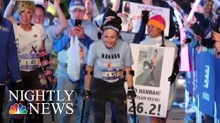 Woman Left Paralyzed While Trying To Escape Sexual Assault Conquers NYC Marathon | NBC Nightly News