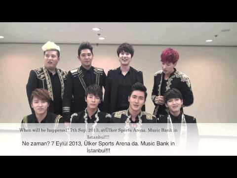 Super Junior : Music Bank in Istanbul at Ülker Sports Arena on Sept. 7!!