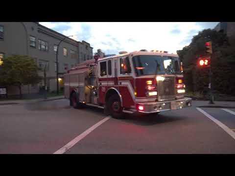 Vancouver Fire & Rescue Services - Pump 4 Responding