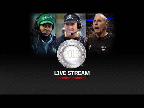 2013 CFL Coach of the Year Announcement - Live Stream