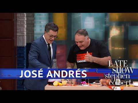 José Andrés Makes Spanish Eggs And Cocktails
