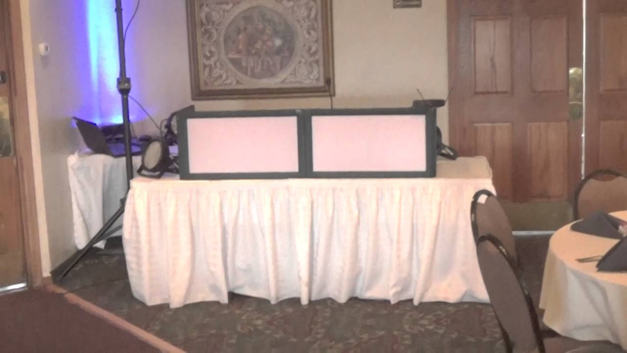DJ set up with speakers far from DJ table & DJ set up with speakers far from DJ table - YouTube