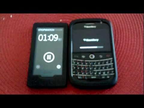 Blackberry Bold 9000 restart time