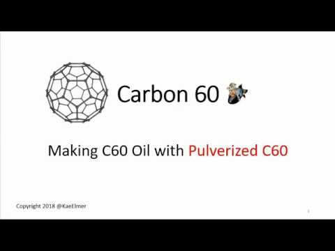 Making C60 Oil with Pulverized C60