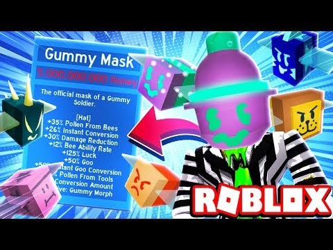 GUMMY MASK IS OVERPOWERED + GUMMY MORPH TONS OF GOO | Roblox Bee Swarm Simulator