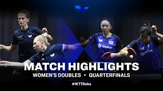 Y. Noskova/O. Vorobeva vs Shin Yubin/Jeon Jihee | WTT Star Contender Doha 2021 | WD | QF Highlights