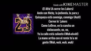 A Correr Los Lakers Remix (Letra/Lyrics)El Alfa, Nicky Jam, Ozuna, Arcangel