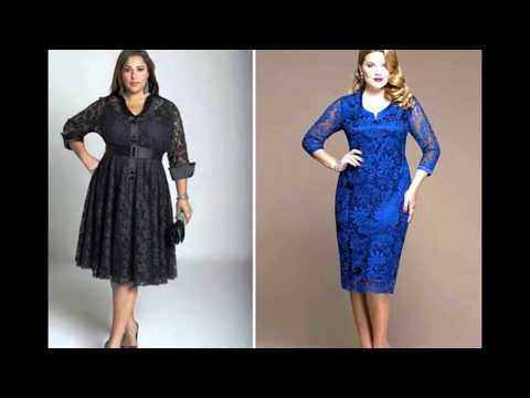 Платья с кружевом для полных - очаровательные наряды