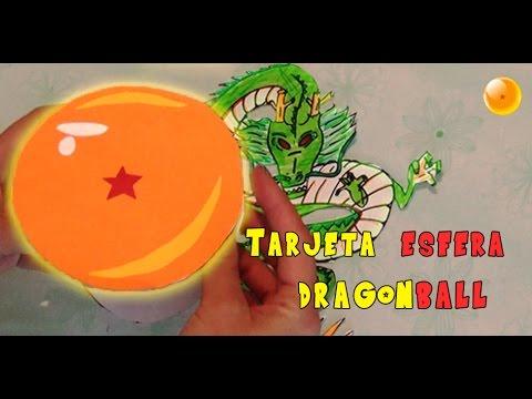 Diy Tarjeta Esfera De Dragon Ball