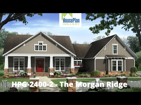 HPG-24002-1 2,400 SF, 4 Bed, 2.5 Bath Country House Plan by House Plan Gallery