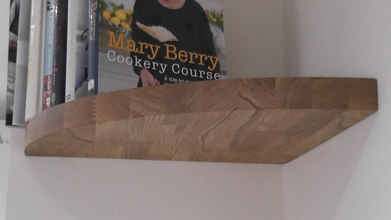 Making A Floating Oak Corner Shelf Youtube