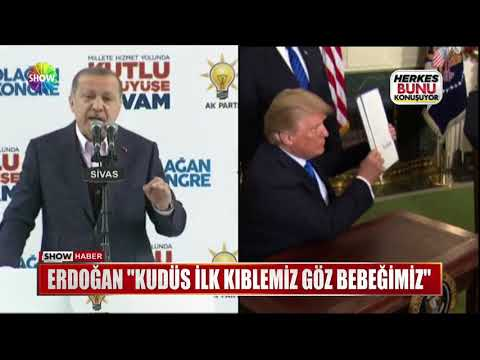 """Erdoğan: """"Kudüs ilk kıblemiz göz bebeğimiz"""""""