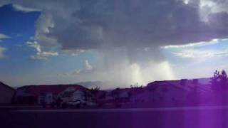 a freak thunderstorm over Bullhead City AZ/ Laughlin NV