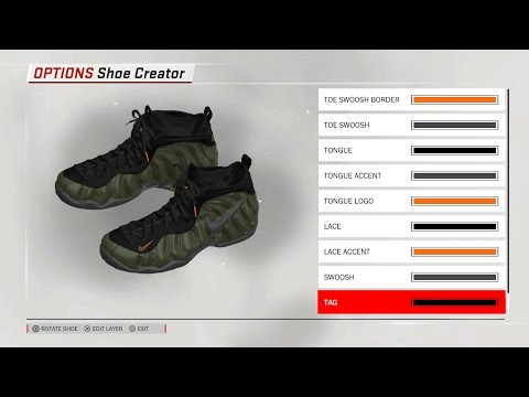 separation shoes edbc6 86bcb Nike Foamposite Pro Sequoia for NBA 2K18