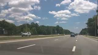 Driving Beach Blvd into the Walmart parking lot. Jacksonville Fl Florida.