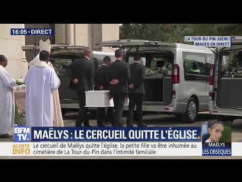 Le cercueil de Maëlys quitte l'église pour le cimetière de La Tour-du-Pin - 동영상