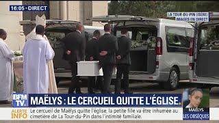 Le cercueil de Maëlys quitte l'église pour le cimetière de La Tour-du-Pin