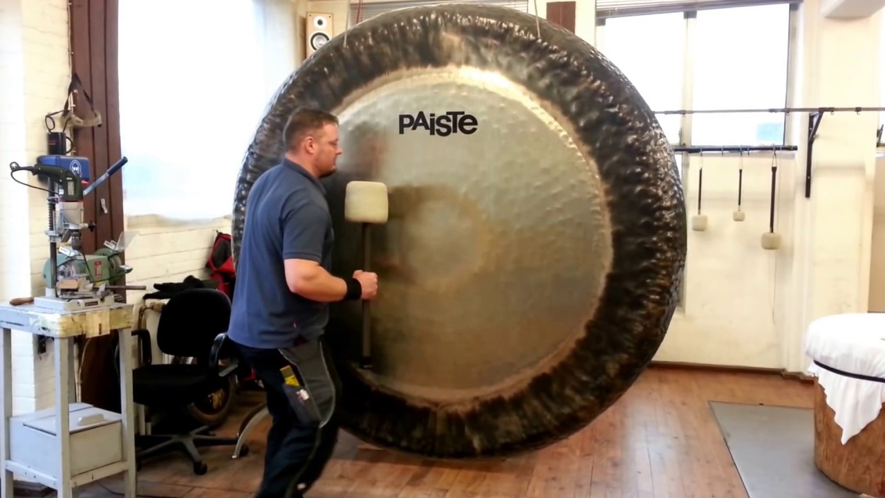 paiste symphonic gong played paiste gong master sven youtube
