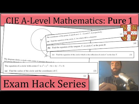 Exam Hack | CIE AS Maths | P1 | Equation of a Circle Question - Intuitive