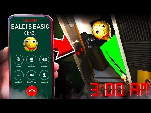I SUMMONED BALDI IN REAL LIFE AT 3:00AM! **I ACTUALLY SAW HIM!**