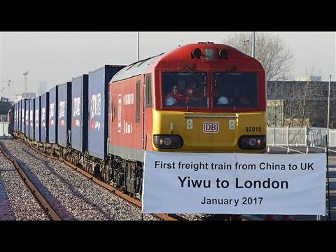 First China-U.K. Freight Train Arrives in London