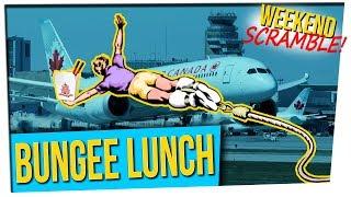 WS: Woman Left Asleep on Airplane || Bungee Lunch || Toilet Tornado (ft. Cris Sosa)