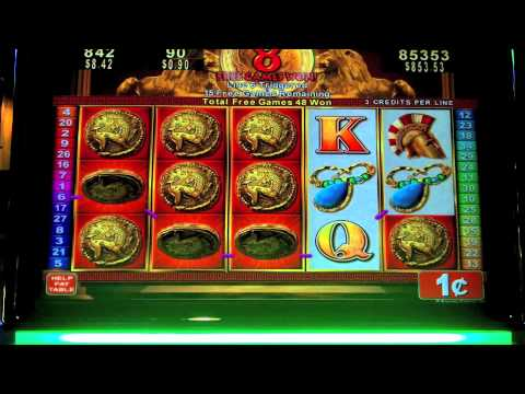Konami - Roman Tribune Slot MEGA bonus win - SugarHouse Casino - Philadelphia, PA