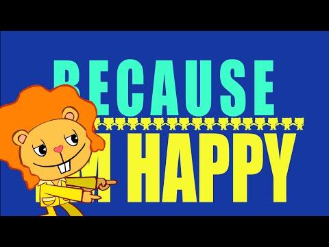 Pharrell Williams - Happy Tree Friends Version (Lyrics Video)