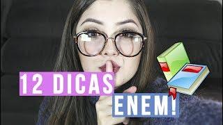 12 DICAS PARA IR SUPER BEM NO ENEM | Bruna tv