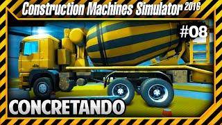 Construction Machines Simulator 2016 - Concretando Construção e Derrubando Árvores #08