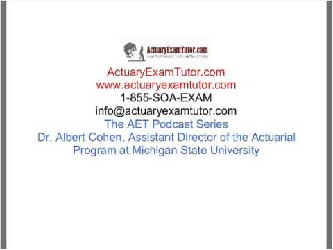 Conversation with Dr. Albert Cohen, Assistant Director of Actuarial Program at MSU