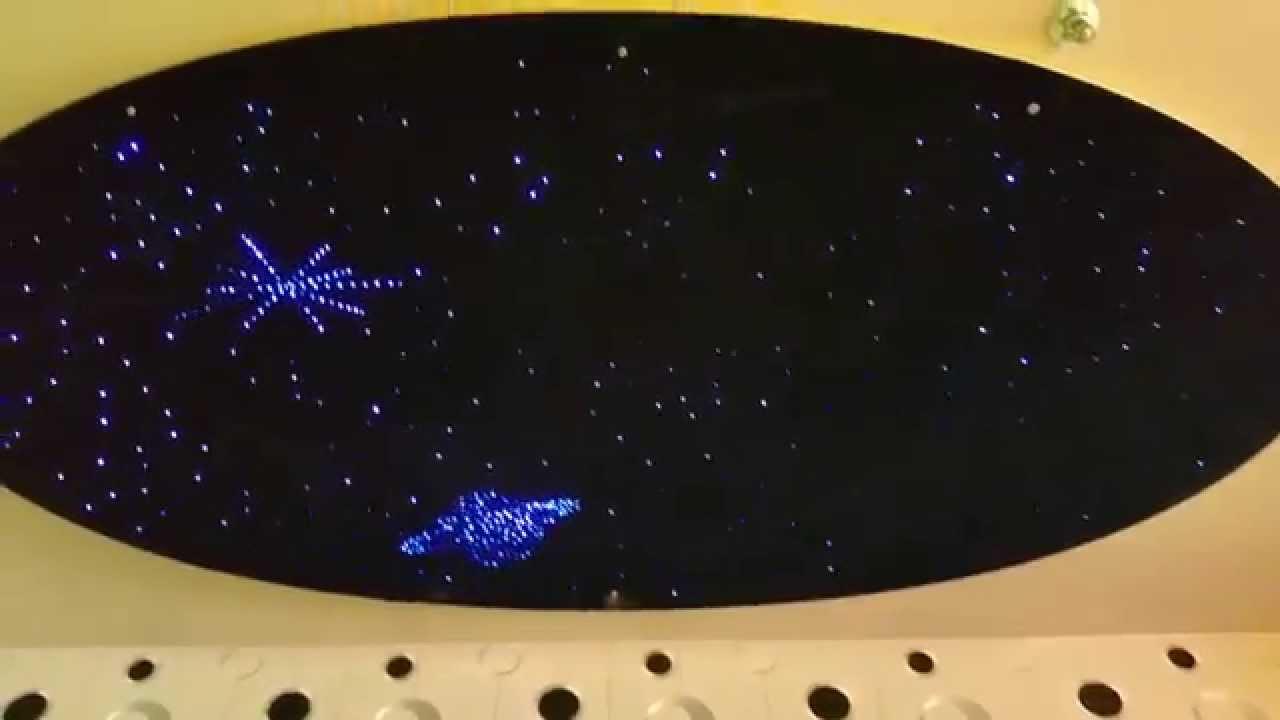 Cielo stellato fibra ottica effetto oscillante. - YouTube