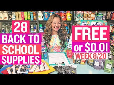 ★ 28 Back to School Supplies for FREE or $0.01 + Coupon Deals at Target & CVS (Week 8/20)