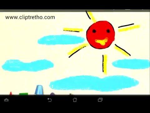 Cháu vẽ ông mặt trời tí hon-sun_ Vẽ ông mặt trời