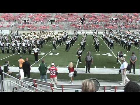 Ohio University Marching 110 - Cheer  - Postgame at Ohio State - September 18, 2010