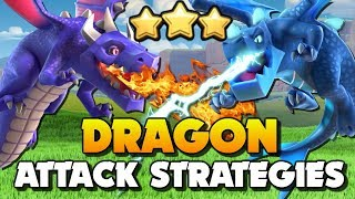 3 TYPES of DRAGON ATTACK STRATEGIES in Clash of Clans AND CoC World Championship 2019!!